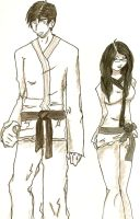 Karate Couple by mortonflies