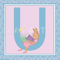 Bunny Letter U by Cunimuni