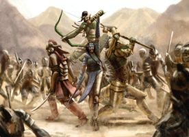 The Four in the desert by Ranarh