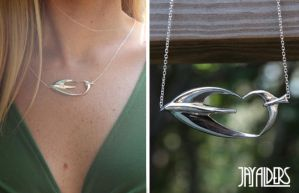Love Birds - Sterling Silver Pendant Necklace by jayalders