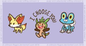 Cutie Pie Kalos Starter Group by pookat