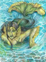Verdenia mermaid coloured by RerinKin