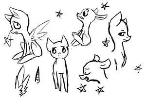 Free To Use Sketches by SecretMonsters