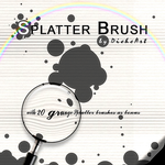 Grunge Splatter Brushes by DieheArt