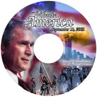 Tribute America CD Label by shark3000