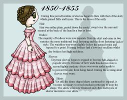 1850-1855 Fashion Card by lady-of-crow