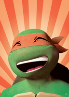 TMNT: Mikey Smiling by Hirocono