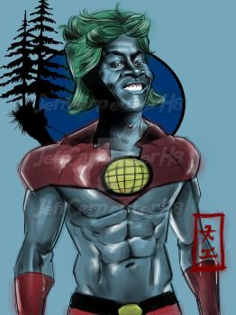 Captain Planet by Doctorductape