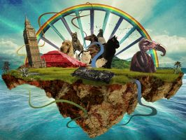 The Island collage ex. 2 by phoebus-chango