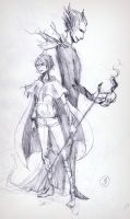 sketch: Jack Frost and Pitch by Anree-Bekker