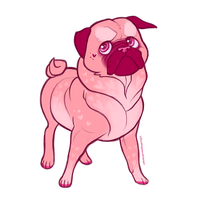 love pug by FourDirtyPaws