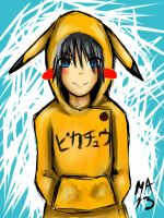 White Shock Pikachu Person! XD by MasterAki