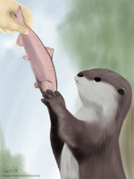Feed The Otter by MetalRenamon