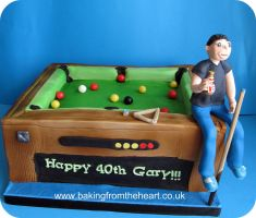Pool table cake by 0970jackie