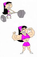 Muscular Trixie Tang By Thefranksterchannel-colour by mud666