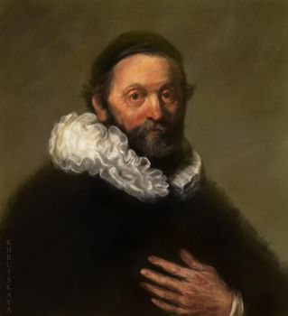 Reproduction of a Rembrandt painting by grinningrabbit