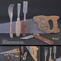 Woodwork Tools Set (Free 3D Models) by LuxXeon