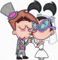 Timmy and Tootie's Wedding Kiss 2.0 by nintendomaximus