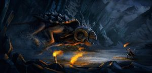 Cave beast concept by GordonTarpley