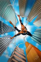 Spiderman Nose Dive by Pramodace
