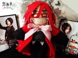 :-Grell Plushie-: by Arkeresia