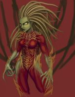 Kerrigan WIP: Rough colors by lizardbeth