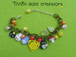 Studio Ghibli loving bracelet Spring version by tivibi