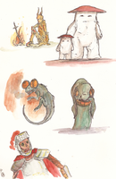 Dark Souls doodles by GlossyToast