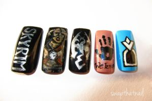 Skyrim Nails by swapthat