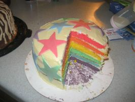 rainbow cake by angelazilla