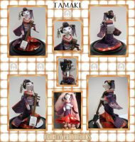 Tamaki - another cat geisha by crokittycats