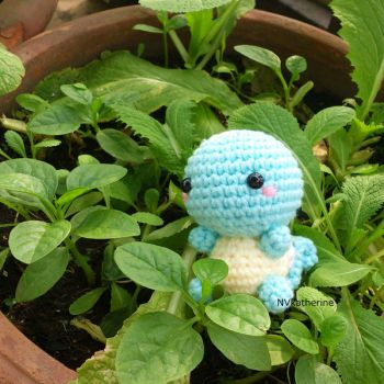[FREE SHIPPING] Chibi Squirtle amigurumi by NVkatherine