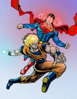 A Battle of Supermen by NCredibleCarl