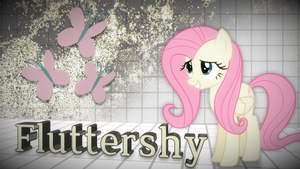 Fluttershy Low-Sat Grunge Wallpaper by LittleshyFIM