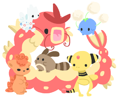 Pokemon Team by Cushies