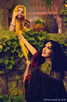 Rapunzel and Mother Gothel by NikitaCosplay
