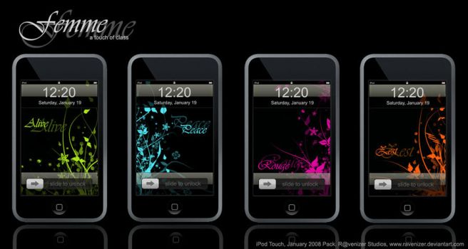 Femme, a touch of class Wall by iTouchPhone-Group