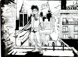 Damian Wayne- Ink by DirkPower