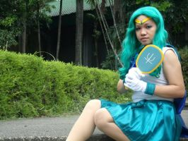 Sailor Neptune with Deep Aqua Mirror by MichiruPLANET