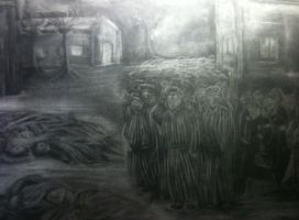 Holocaust Charcoal by SorinCrecens
