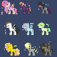Pony Adoptables Set 2 [CLOSED] by Xecax