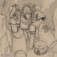 Request - Space Marine Sin by sinDRAWS