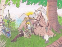 Link, Epona, Navi by Know-Kname