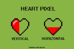 Heart Pixel Battery by Hammer-and-Nail86