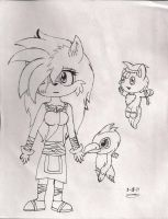 Cammy and her pets in Sonic Boom by Tailmouth-Cupcake