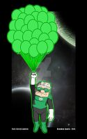 Carl from Up as a Green Lantern by thesometimers