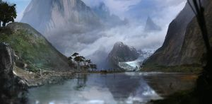 The Endless Fjords - 50min speedpainting by Gycinn