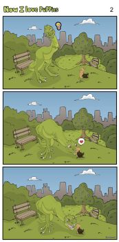 A Dinosaur in the City page 2 by Almairis