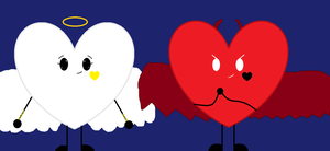 Angelic and Demonic Heart for Halloween by Curenice56