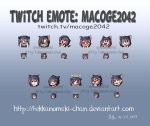 Commission: Twitch Emotes for Macoge2042 by TekkanoMaki-chan
